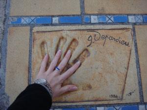 Gerard has big hands