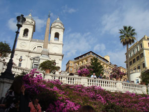 Spanish Steps in Bloom