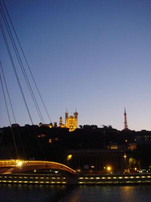 Lyon under the lights