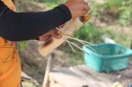 Peeling Bamboo