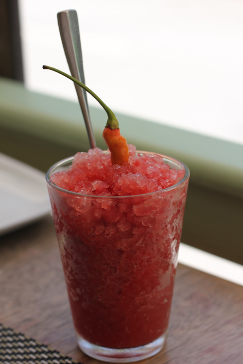 Watermelon Chili Granita