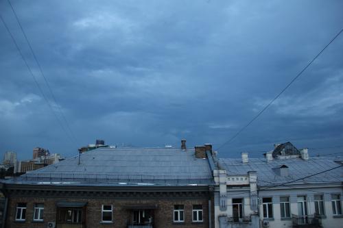 Dark Kyiv Skies