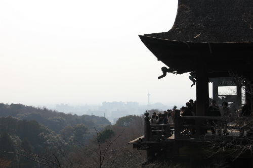 Temple and Kyoto Tower